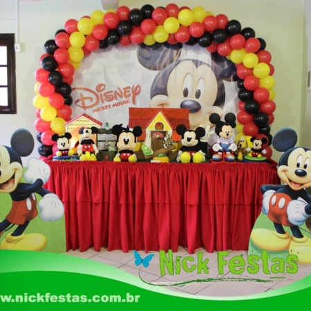 Mesa decorada mickey nick festas