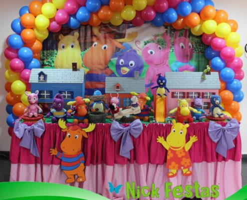 1 aluguel mesa decorada backyardigans nick festas