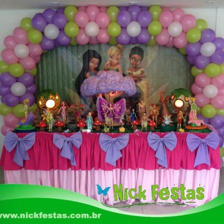 Mesa decorada infantil sininho