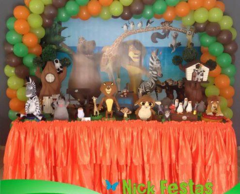 Decoração infantil madagascar nick festas