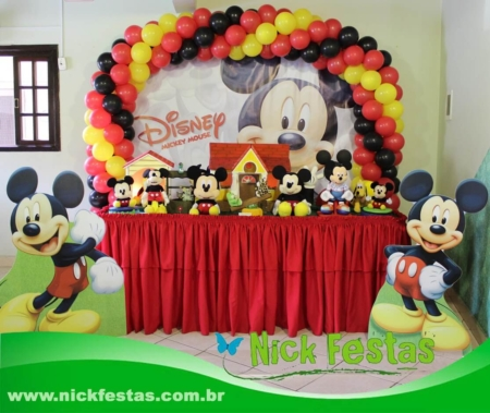 Mesa decorada mickey nick festas