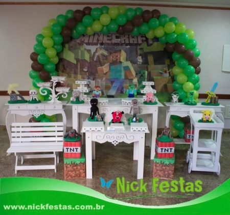 Mesa decorada provençal minecraft nick festas