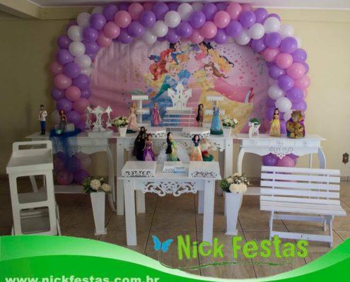 Mesa decorada provençal princesas