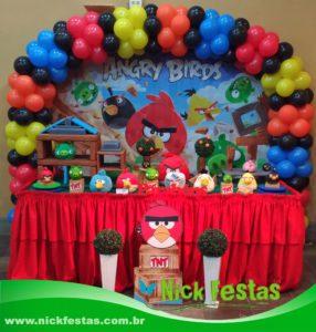 Locação de decoração de festa infantil angry birds