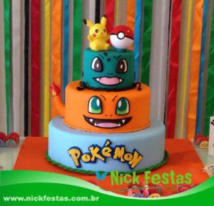 Aluguel de bolo cenográfico Pokémon