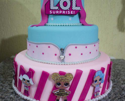 locação de bolo fake lol surprise