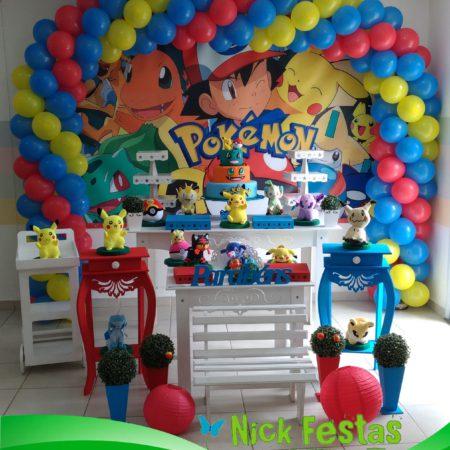 decoração infantil pokémon, mesa decorada pokémon, festa pokémon, mesa decorada provençal pokémon